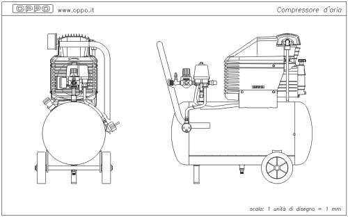 Disegno compressore d 39 aria for Condizionatore non parte compressore